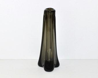Murano Seguso Smoked Dark Gray Glass Vase, circa 1950s – 1960s