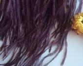 OSTRICH FEATHER FRINGE / Plum, dark plum purple / 318