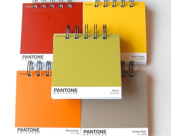 PANTONE Paintchip notebooks Set of 5 in Outdoorsy