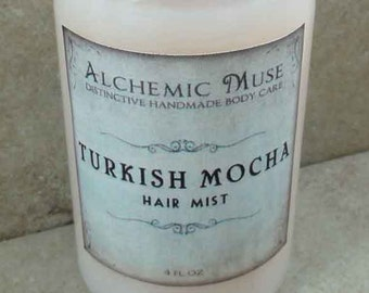 Turkish Mocha - Hair Mist - Detangler & Styling Primer - Turkish Coffee, Marshmallow, Hazelnut, Cocoa Absolute