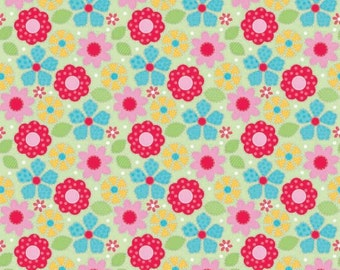 Clearance FABRIC FLOWER SPRING Floral Flannel Cotton by Riley Blake