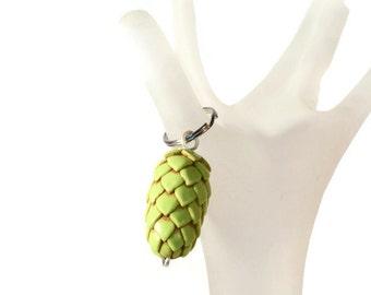 The ORIGINAL Hops Key Chain - Beer Gear -Hop Jewelry - Hop Head Accessories - Beer Geek Gift - Pet Charm