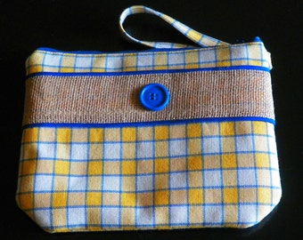 Plaid Wristlet Purse