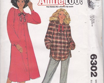 OOP New 1978 McCall's carefree pattern Annie Too: Misses Dress and Top for size 16