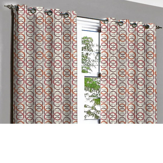 jubiliee rust beige links grommet blackout lined curtain in textured