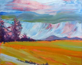 Valley Storm 11 original abstract landscape oil painting