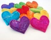 Felt Heart Brooch - A Handfelted Love Heart Pin - Lucky Dip Colour