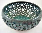 Pottery berry bowl, handmade fruit bowl - In stock