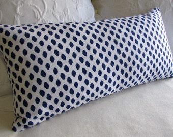 SAHARA blue designer decorative Pillow 13x26 insert included