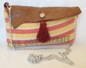 """Authentic Vintage """"Hubbard Poultery Feed"""" Feed Sack Clutch"""