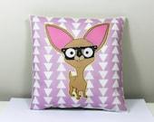 Chihuahua Mini Pillow Cushion Pastel Pattern