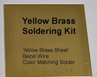 Yellow Brass Soldering Kit includes Sheet, Bezel Wire and Solder