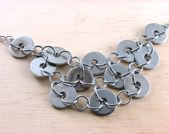 Hardware Statement Necklace Hardware Jewelry Industrial Washers