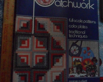 Vintage 1975 Primarily Patchwork Full-Scale Pattern Book - 100 page softcover book
