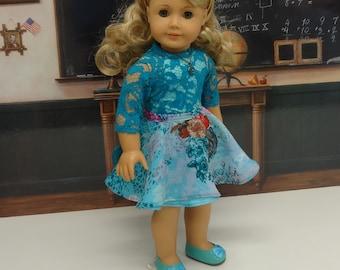 Teal Sophisticate - Skirt Set for American Girl
