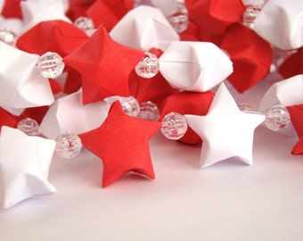 Red and White Lucky Star Garland