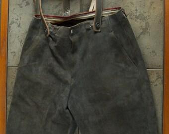 Vintage Pair of German Lederhosen