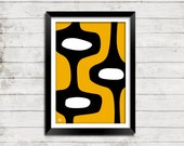 Abstract Atomic Pop Art Colorful Fun Mid Century Modern Print Collection - 28 Designs 20 Colors 3 Sizes
