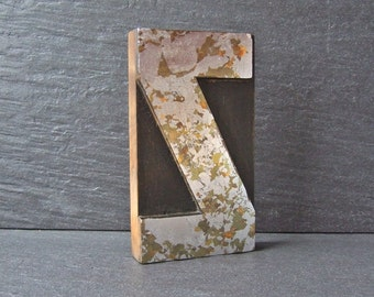 Zingy Zed - Gilded and Gorgeous Vintage Letterpress Z Printing Block