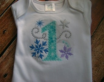 Winter Wonderland 1st Birthday Bodysuit