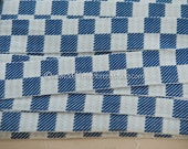 1 yard Geometric- Vintage Trim Juvenile 70s New Old Stock Royal Blue White Checked