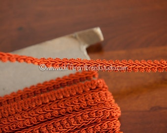 Rust or Burnt Orange - 3 yards Vintage Trim New Old Stock 60s 70s Edging Gimp