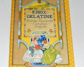 Vintage Cookbook Advertising Knox Gelatine Dainty Desserts Candies Salads  Illustrations and Recipes
