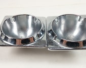 Vintage set of car ash tray ashtray for old car metal
