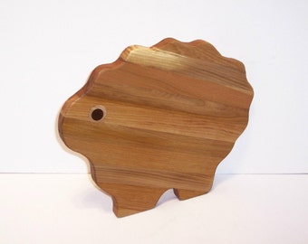 Big Sheep Cutting Board Handcrafted from Mixed Hardwoods
