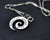 Cesarean Without Fear Spiral Necklace