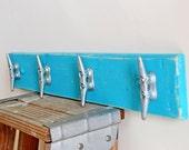 Boat Cleat - Shabby Seas - Ocean Theme Kids Wall Art Rack for Nursery and Children's Room - Nursery coat hook - Nursery decor - beach