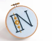 Embroidery Patterns Modern Monograms STARLIGHT Alphabet embroidery patterns by SeptemberHouse Full Alphabet included DIY embroidery