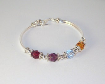 Swarovski Crystal Jewelry -  Mothers or Grandmothers Bracelet -