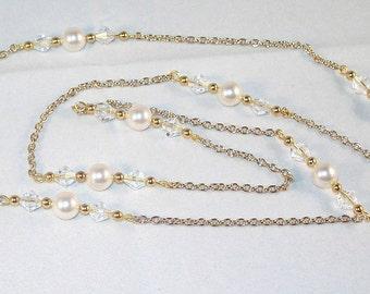 Swarovski Crystal and Pearl Jewelry -  Necklace