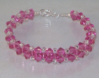 Swarovski Crystal Jewelry - Crystal Wedding/Party Bracelet - Any Color