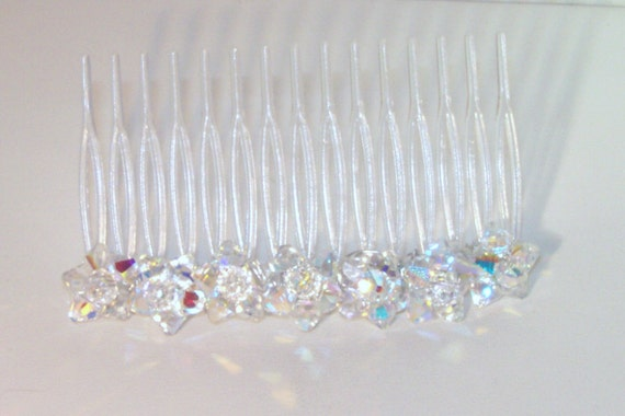 Swarovski Crystal Jewelry - Bridal Hair Comb - Made to Order - Bride, Bridesmaids, Maid of Honor - All Swarovski Colors
