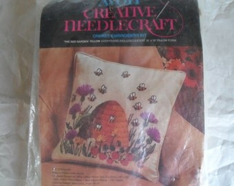 Avon needle kit Pillow or Wall hanging kit The Bee Garden