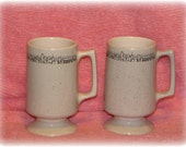 2 Retro Buffalo China Restaurant Ware Coffee Cup Latte Mugs New York Skyline Speckled 1980