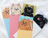 Pomeranian Bookmarks - Eco-friendly Set of 5