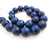 Lapis Lazuli, AAA Grade Lapis Beads, 18mm Smooth Round, Full Strand, SKU 4403A