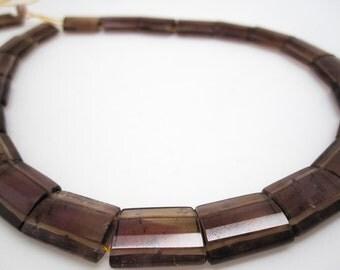Ametrine Beads, Double Drilled, Purple and Yellow Gemstone, SKU 4392A
