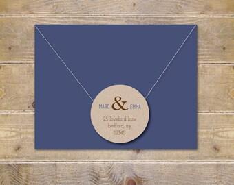 Address Labels . Return Address Labels . Recycled Address Labels . Wedding Invite Address Label . Save The Date . Bridal Shower - Ampersand