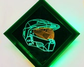 Glowing Master Chief Helmet Hanging Light Art