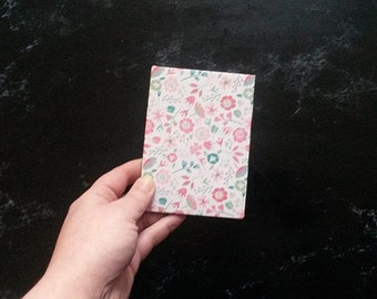 Hand-bound A7 Floral notebook