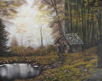 Autumn In The Woods Original Landscape Oil Painting by Cindi Rae Thayn