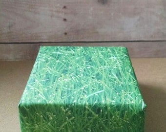 Fresh Cut Grass Soap.  Incredible!  It smells like you just mowed the lawn!  Just right for the summer season!