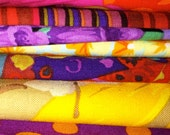 2 OZ. Kaffe Fassett Philip Jacobs Martha Negley Brandon Mably Quilt Quilting Fabric Cutting Table Scrap Bags AWESOME!
