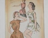 Vintage 50s Cobbler Apron Pattern Advance 7878 Size Small 10 12 Bust 31 32