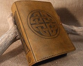 Standard - Celtic Circle Knot Hand Bound Leather Journal