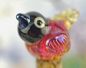 Pip..((( RESEVED for Jan  ))).... lampwork bird bead..... sra